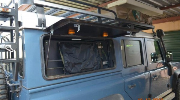 Tipup aluminum doors for Landrover