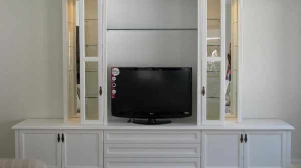 MDF Wall unit fitted with shaker style doors
