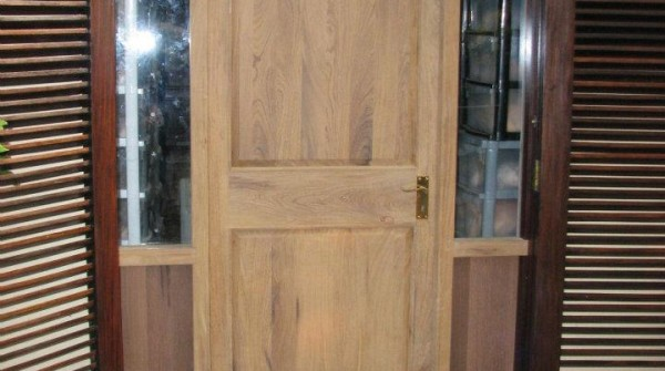Afromosia solid wood door