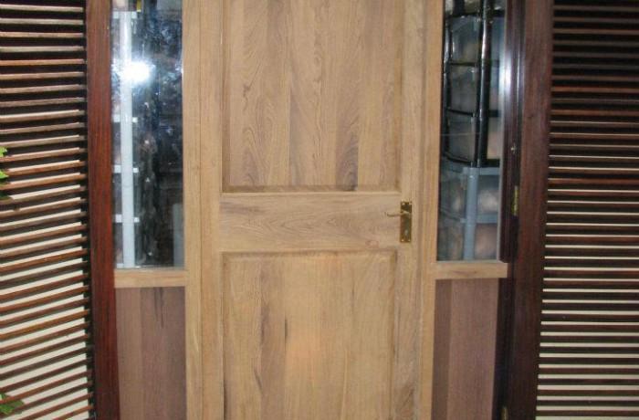 Afromosia solid wood door