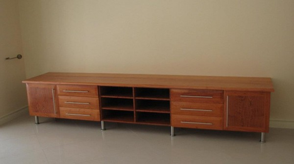 Solid African rosewood plasma stand