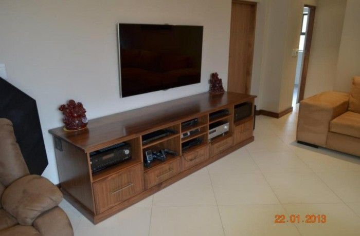 Solid American walnut entertainment centre